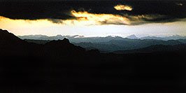/images/133/2003-03-reavis-night-pano.jpg - #01153: wet Reavis Ranch Trail in Superstition Mountains … March 2003 -- Superstitions, Arizona