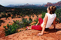 /images/133/2003-05-jennie-sedona-view.jpg - #01205: Jennie in Sedona … May 2003 -- Sedona, Arizona