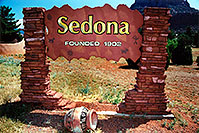 /images/133/2003-06-sedona-sign-founded.jpg - #01254: views of Sedona … June 2003 -- Sedona, Arizona