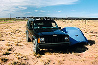 /images/133/2003-08-11-morning-tent.jpg - #01276: returning home from New Mexico … in Arizona, near New Mexico … August 2003 -- Arizona