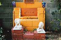/images/133/2003-08-backyard-shrine.jpg - #01266: images in Santa Fe … August 2003 -- Santa Fe, New Mexico