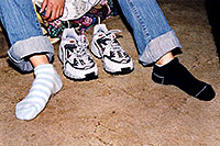 /images/133/2003-08-sonia-socks.jpg - #01323: Sonia in Santa Fe … August 2003 -- Santa Fe, New Mexico