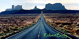 /images/133/2003-11-monvalley1-pano.jpg - #01366: road to Monument Valley … Nov 2003 -- Monument Valley, Utah