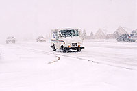 /images/133/2003-11-rosemont-snow-road2.jpg - #01360: US mail truck in November snow, along Yosemite Road in Lone Tree … Nov 2003 -- Lone Tree, Colorado