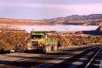 /images/133/2003-12-moab-fog-road1.jpg - #01385: Morning in Moab … before moving Phoenix to Denver … Dec 2003 -- Moab, Utah
