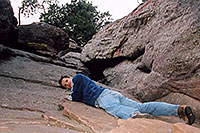 /images/133/2004-04-boulder-me-climbing.jpg - #01419: Boulder … March 2004 -- Boulder, Colorado