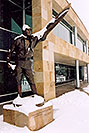/images/133/2004-04-jeppesen4-v.jpg - #01444: statue of Elroy Jeppesen, airway chart pioneer … June 2004 -- Englewood, Colorado