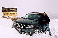 /images/133/2004-04-loveland-jeep1.jpg - 01448: my Jeep and I at Loveland Pass … April 2004 -- Loveland Pass, Colorado