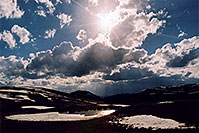 /images/133/2004-06-indep-sky-sun.jpg - #01521: top of Independence Pass … June 2004 -- Independence Pass, Colorado