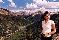 /images/133/2004-06-indep-twin-side2.jpg - #01525: La Plata Peak at 14,336 ft in the background … view from Independence Pass Road towards Twin Lakes … June 2004 -- La Plata Peak, Independence Pass, Colorado