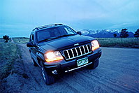 /images/133/2004-06-woodland-jeep-night.jpg - 01592: dirt road from Garden of the Gods to Woodland Park - Rampart Range Rd … June 2004 -- Rampart Range Rd, Woodland Park, Colorado