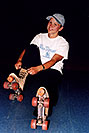 /images/133/2004-07-aneta-rollerblades1.jpg - #01606: Aneta rollerblading for the first time … July 2004 -- Lakewood, Colorado