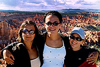 /images/133/2004-07-bryce-3.jpg - #01611: Ola, Ewka and Aneta in Bryce National Park … my reflection in sunglasses … July 2004 -- Bryce, Utah