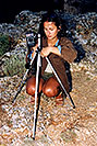 /images/133/2004-07-grand-ola-photo-v.jpg - #01689: Ola taking pictures during sunset at Grand Canyon (just after we arrived from Lake Powell) … July 2004 -- Navajo Point, Grand Canyon, Arizona