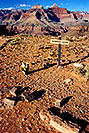 /images/133/2004-07-grand-plateau-sign-v.jpg - #01695: Plateau Point sign -- Plateau Point has a view of Colorado River of Grand Canyon … July 2004 -- Bright Angel Plateau Point, Grand Canyon, Arizona