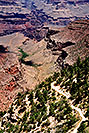 /images/133/2004-07-grand-view4-v.jpg - #01707: view down on Bright Angel Trail … July 2004 -- Bright Angel Trail, Grand Canyon, Arizona