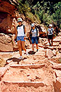 /images/133/2004-07-grand-walk-v.jpg - #01711: Ewka, Aneta and Ola walking down Bright Angel Trail … July 2004 -- Bright Angel Plateau Point, Grand Canyon, Arizona