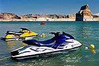 /images/133/2004-07-powell-jetskis1.jpg - #01792: jetskis at Lone Rock … July 2004 -- Lone Rock, Lake Powell, Utah
