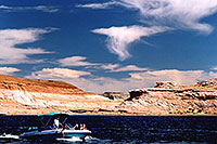 /images/133/2004-07-powell2-boats2.jpg - #01748: boats by Wahweap … Lake Powell … July 2004 -- Wahweap, Lake Powell, Utah