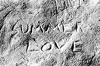 /images/133/2004-07-utah-return-summer-.jpg - 01798: Summer Love rock engraving ... somewhere along I-70 from Utah to Colorado … July 2004 -- I-70, near Colorado, Utah