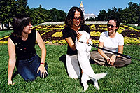 /images/133/2004-08-denver-oksana-dog.jpg - #01844: Oksana, Ola & Ewka in Denver … August 2004 -- Denver Flowers, Denver, Colorado
