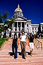 /images/133/2004-08-denver-oksana-steps-v.jpg - #01849: Oksana, Ewka & Ola walking down from Parliament Building in Denver … August 2004 -- Denver, Colorado
