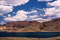 /images/133/2004-08-gunnison-lake.jpg - #01885: boat on Morrow Point Reservoir … July 2004 -- Morrow Point Reservoir, Gunnison, Colorado