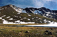 /images/133/2004-08-mt-evans-mtns2.jpg - #01922: Mt Evans peaks … view from Summit Lake … August 2004 -- Mt Evans, Colorado