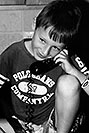/images/133/2004-08-olas-trent-bw3.jpg - #01984: Trent on the phone … August 2004 -- Greenwood Village, Colorado