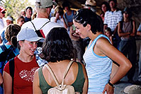 /images/133/2004-08-verde-3-talking.jpg - #01997: Aneta, Ola & Ewka … Mesa Verde ruins … August 2004 -- Durango, Colorado