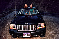 /images/133/2004-08-wyo-night-girls.jpg - #02017: Ola & Ewka … along the way to Yellowstone … August 2004 -- Wind River Canyon, Wyoming