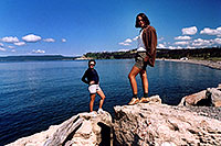 /images/133/2004-08-yello-lake3.jpg - #02068: Ewka & Ola by Yellowstone Lake … August 2004 -- Yellowstone, Wyoming