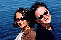 /images/133/2004-08-yello-lake4.jpg - #02069: Ola & Ewka by Yellowstone Lake … August 2004 -- Yellowstone, Wyoming