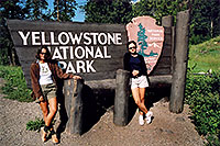 /images/133/2004-08-yello-park-sign.jpg - #02087: Yellowstone entrance from Cody, Wyoming … August 2004 -- Yellowstone, Wyoming
