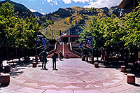 /images/133/2004-09-aspen-gondola.jpg - #02100: stairs up to Gondola in Aspen … Sept 2004 -- Aspen, Colorado