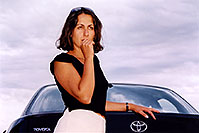 /images/133/2004-09-car-ola1.jpg - #02101: Ola by her black Toyota Camry in Englewood … Sept 2004 -- Englewood, Colorado