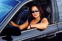 /images/133/2004-09-car-ola4.jpg - #02104: Ola in her black Toyota Camry in Englewood … Sept 2004 -- Englewood, Colorado