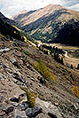 /images/133/2004-09-indep-drive-up01-v.jpg - #02111: road up Independence Pass from Twin Lakes side … Sept 2004 -- Independence Pass, Colorado