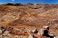 /images/133/2004-09-loveland-view3.jpg - #02153: West Slope: view east towards road of Loveland Pass … Sept 2004 -- Loveland Pass, Colorado