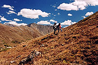 /images/133/2004-09-loveland-view6.jpg - #02156: Ola and Aneta walking on West Slope … Sept 2004 -- Loveland Pass, Colorado