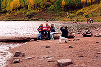 /images/133/2004-09-maroon-people4.jpg - #02191: People at Maroon Lake with Maroon Peaks in the background … Sept 2004 -- Maroon Lake, Maroon Bells, Colorado