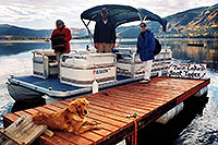 /images/133/2004-09-twinlakes-boat01.jpg - #02219: Ruby (Golden Retriever) at Twin Lakes … Sept 2004 -- Twin Lakes, Colorado