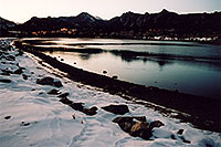 /images/133/2005-02-estes-park-lake-sun.jpg - #02416: twilight at Estes Park, Colorado … Feb 2005 -- Estes Park, Colorado