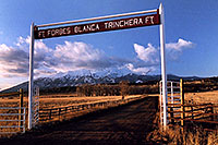 /images/133/2005-03-blanca-gate.jpg - #02441: Spanish Trail cities … March 2005 -- Blanca Peak, Colorado