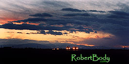 /images/133/2005-03-delnorte-night1-pano.jpg - #02440: sunset along Spanish Trail  … March 2005 -- Del Norte, Colorado