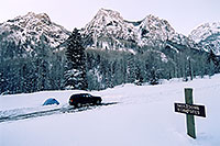 /images/133/2005-03-ouray-camping.jpg - #02511: my custom campspot … 6am in Ouray … March 2005 -- Ouray, Colorado
