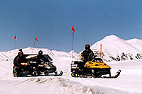 /images/133/2005-03-ouray-snowmobilers1.jpg - #02524: Snowmobilers at Molas Pass Summit … March 2005 -- Molas Pass, Colorado