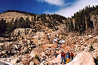/images/133/2005-03-rockmtn-people-fall.jpg - #02529: Rocky Mtn National park, near Estes Park … March 2005 -- Alluvial Fan, Rocky Mountain National Park, Colorado