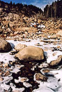 /images/133/2005-03-rockmtn-river-snow2-v.jpg - #02528: Rocky Mtn National park, near Estes Park … March 2005 -- Alluvial Fan, Rocky Mountain National Park, Colorado
