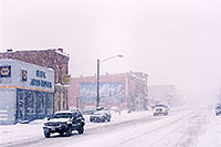 /images/133/2006-01-leadville-street2.jpg - #02667: cars leaving Leadville towards Buena Vista … images of Leadville … Jan 2006 -- Leadville, Colorado
